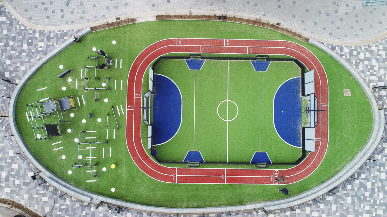 Einzigartige Sportanlagen für Bewegung auf dem Schulhof