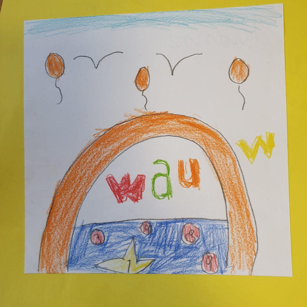 Zeichnung von einem der Schüler