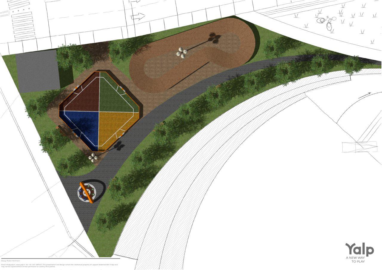 Entwurf Yalp Toro - Mehrzwecksportplatz und Yalp Sona - Spielbogen