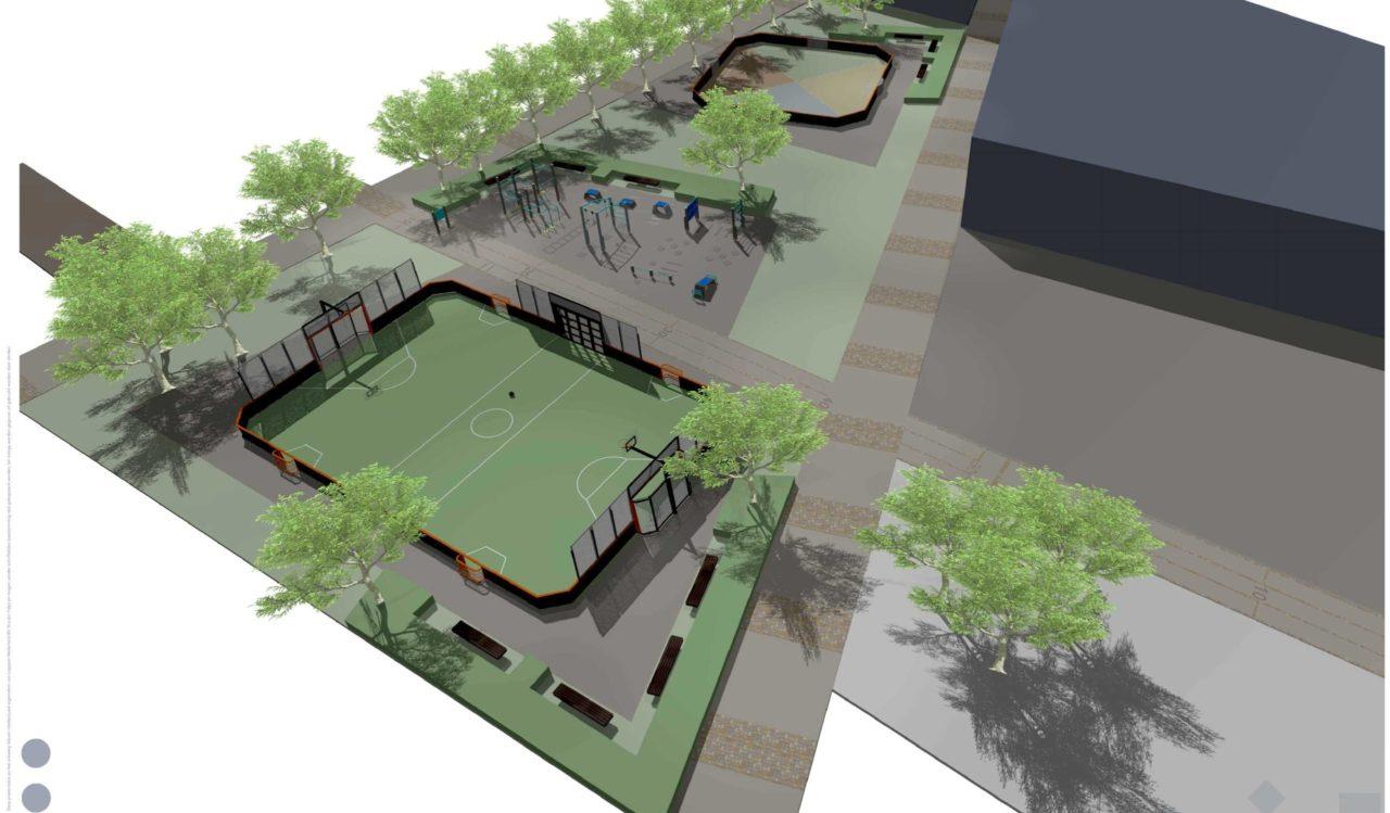 Entwurf Sportanlage mit Yalp Toro - Mehrzweck Sportplatz