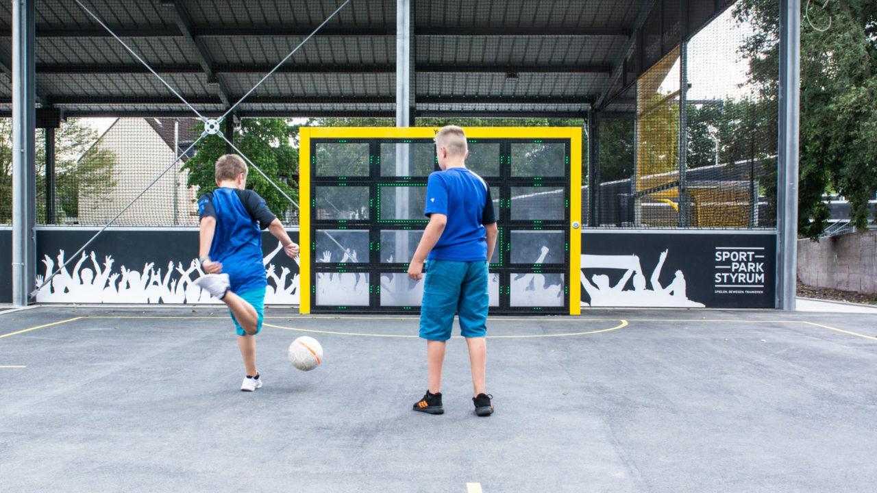 Interaktives Sport und Spiel