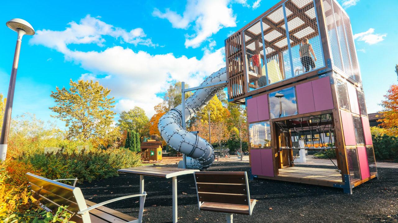 Lappset Halo Cubic - Moderne Spielplätze in Kompaktbauweise!