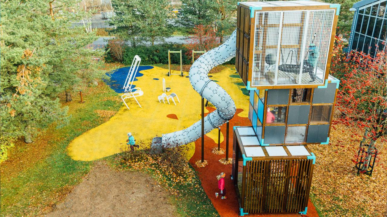Multifunktionale, moderne Spielplätze voller innovativer Lösungen!